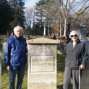 Ed and Ellie - funded the restoration of the John W Taylor family gravestones